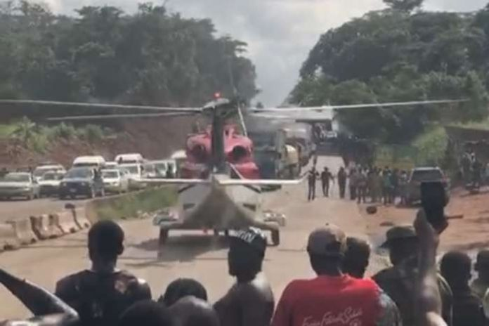 NCAA probes how helicopter picked man stuck in traffic